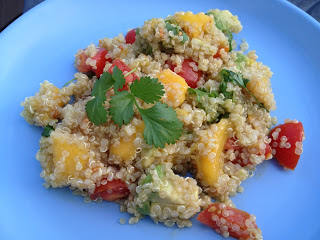 Quinoa Salad with Mango, Avocado, & Tomatoes